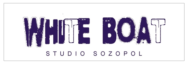White Boat Studio Sign - Single
